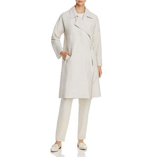 Link to Eileen Fisher Womens Trench Coat Side-Tie Collared - bone Similar Items in Women's Outerwear