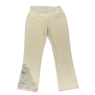 Guess Womens Fleece Lined Printed Sweat Pants