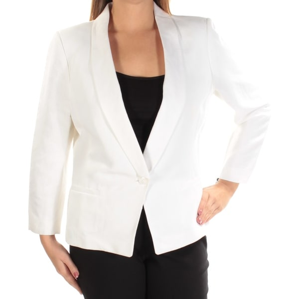 33dfe3cc Shop TOMMY HILFIGER Womens White Suit Formal Jacket Size: 14 - Free Shipping  On Orders Over $45 - Overstock - 23454234