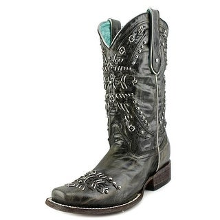 Corral Susan Women Square Toe Leather Black Western Boot