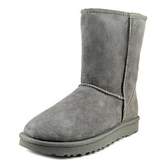 Ugg Australia Classic Short II Women  Round Toe Suede Gray Winter Boot