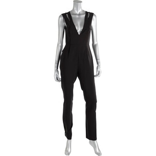 Lucy Paris Womens Cut-Out Pleated Jumpsuit