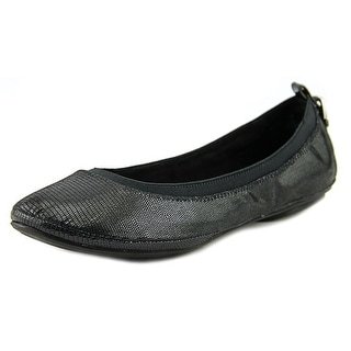 Bandolino Edina Women Round Toe Canvas Black Flats