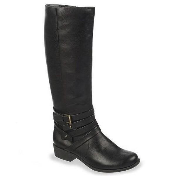 NaturalSoul Women Veil Tall Riding Boots - Black - 6