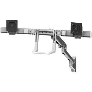 Ergotron - Hx Wall Dual Monitor Arm Polished Aluminum