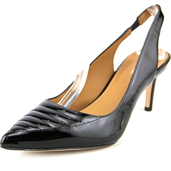 Calvin Klein Calvina Women Pointed Toe Synthetic Black Slingback Heel