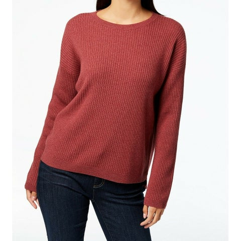 Eileen Fisher Red Womens Size Medium M Pullover Cashmere Sweater