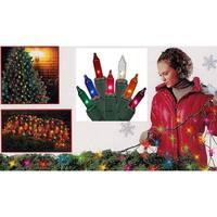 4' x 6' Multi-Color Mini Twinkle Net Style Christmas Lights - Green Wire - multi