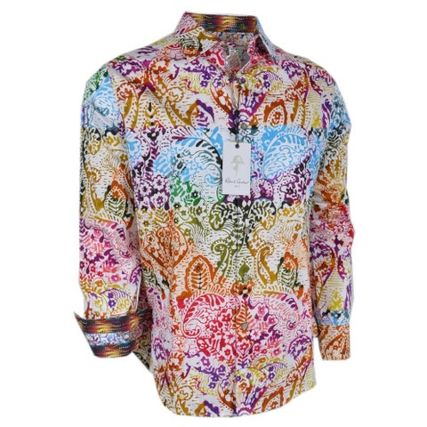 Robert Graham ZELANDIA Reef Print Cotton Classic Fit Sports Shirt