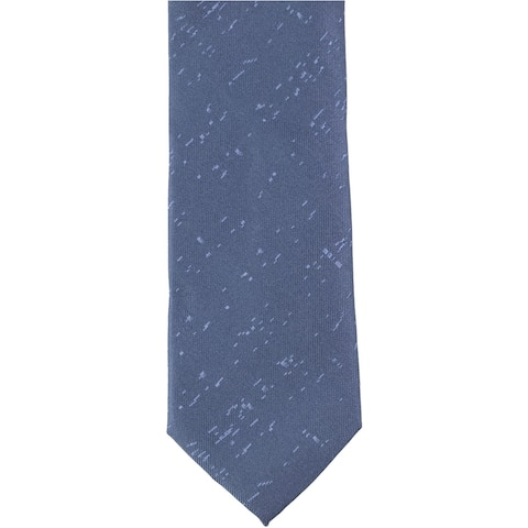 Calvin Klein Mens Patterned Self-tied Necktie, blue, One Size - One Size