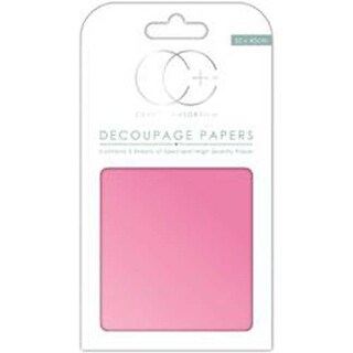 "Pearlescent Pink - Craft Consortium Decoupage Papers 13.78""X15.75"" 3/Pkg"