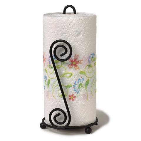 Spectrum 44410 Scroll Paper Towel Holder, Black