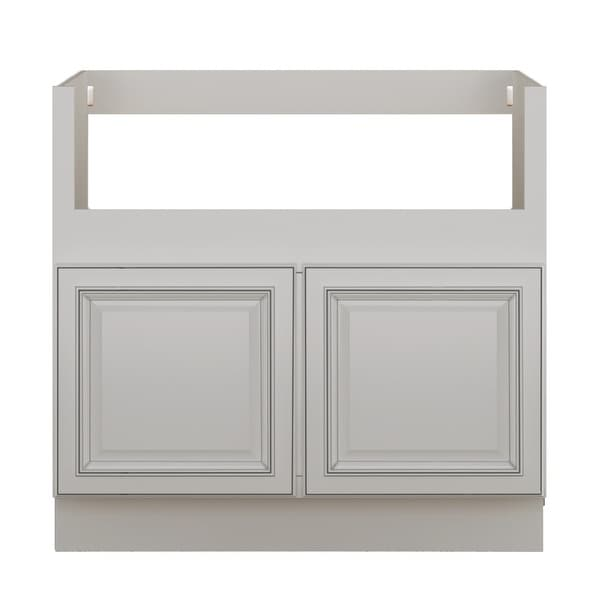 """Sunny Wood SLB36FS-A Sanibel 36"""" Wide x 34-1/2"""" High Double Door Base Cabinet - Off White with Charcoal Glaze"""
