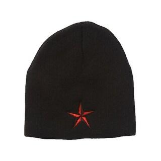 Red Star Black Beanie