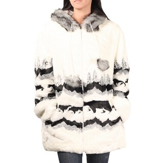 DuMonde Black Mountain 'Bear Crossing' Faux Fur Hooded Coat (2 options available)
