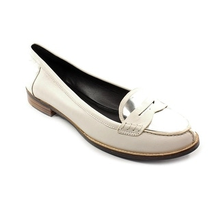 DMSX by Donald J Pliner Yev Women Round Toe Leather White Loafer