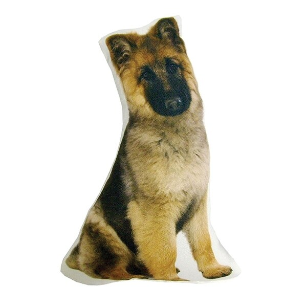 Plump Puppy Cutout Pillow - German Shepherd