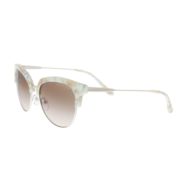 e25d5a753d Michael Kors MK1033 334013 Pastel Green Mosaic  Silver Cat eye Sunglasses -  54-18