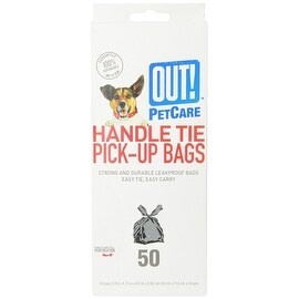 Out! 50 Count Handle Tie Waste Pick-Up Bags for Dogs