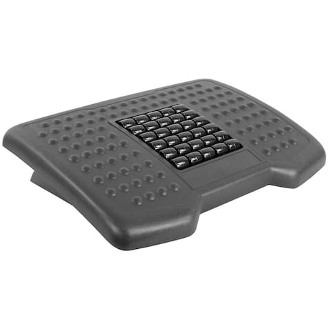 Mount-It! Under Desk Footrest with Massaging Rollers, 18 x 13 inches - MI-7810