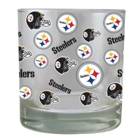 Pittsburgh Steelers All-Over Print Rocks Glass 10oz