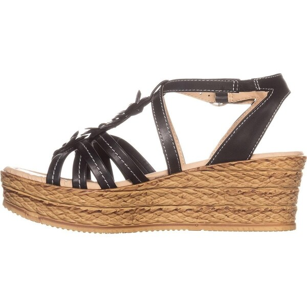 Bare Traps Womens Fuchsia Open Toe Casual Platform Sandals