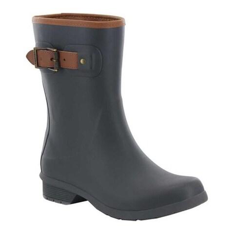 Chooka Women's City Solid Mid Rain Boot Charcoal
