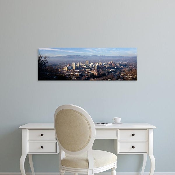 Easy Art Prints Panoramic Images's 'Aerial view of a city, Asheville, Buncombe County, North Carolina, USA' Canvas Art