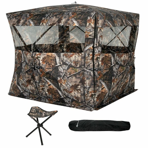 Shop Goplus Portable 3 Person Pop Up Ground Hunting Blind