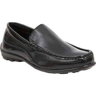 Deer Stags Boys' Booster Moc Toe Loafer Black Simulated Leather