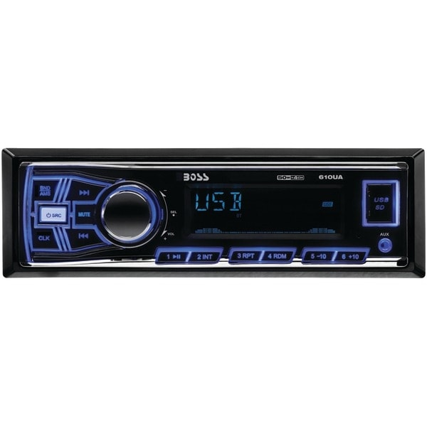 BOSS AUDIO 610UA Single-DIN In-Dash Mechless AM/FM Receiver (Without Bluetooth(R))
