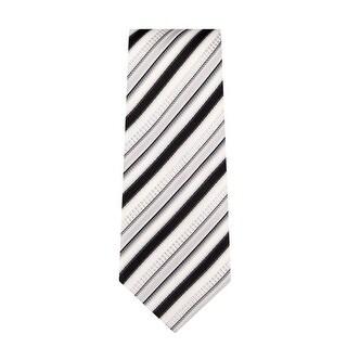 Marquis Men's Black & White Stripes Neck Tie & Hanky Set TH101-020 - regular