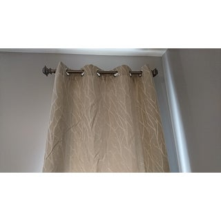 ATI Home Forest Hill Woven Blackout Grommet Top Curtain Panel Pair