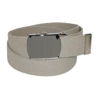 CTM® Cotton Adjustable Belt with Nickel Buckle