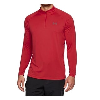 Under Armour NEW Red Mens Size Large L Pullover 1/2 Zip Athletic Top