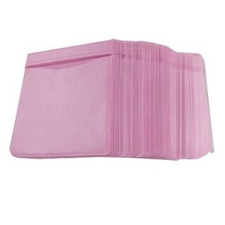 Unique Bargains Pink Plastic Home CD Storage Bag Square Holder 100 Pcs