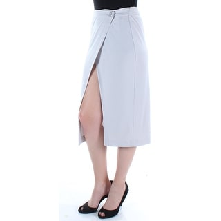 KIIND OF Womens Silver Midi Wrap Skirt  Size: S