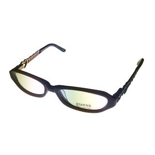 Guess Women Opthalmic Eyeglass Rectangle Brown Plastic 9049 - Medium