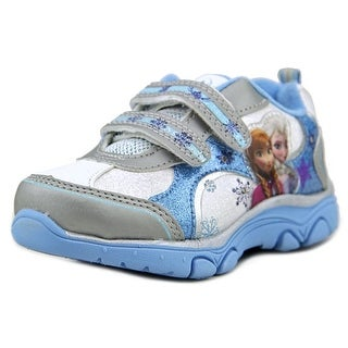 Disney Frozen Princess Sneakers Toddler Round Toe Synthetic White Sneakers