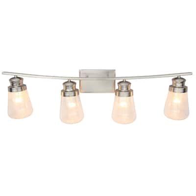 4 Light Vanity lighting in Brushed Nickel Finish
