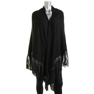Lauren Ralph Lauren Womens Wool Fringe Shawl/Wrap