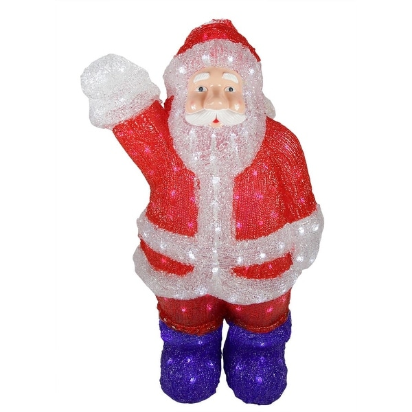"""24"""" Lighted Commercial Grade Acrylic Santa Claus Christmas Display Decoration"""
