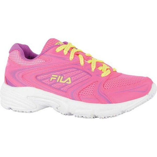 72ca343f70 Fila Women  x27 s Memory Pacesetter Slip-Resistant Jogger Sneaker Knockout  Pink