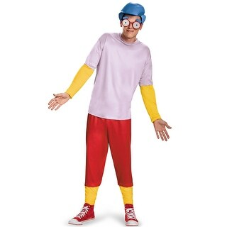 Disguise Milhouse Deluxe Adult Costume - Red/blue