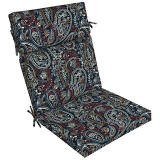 Link to Arden Selections Palmira Paisley Outdoor Dining Chair Cushion - 44 in L x 21 in W x 4.5 in H Similar Items in Patio Furniture