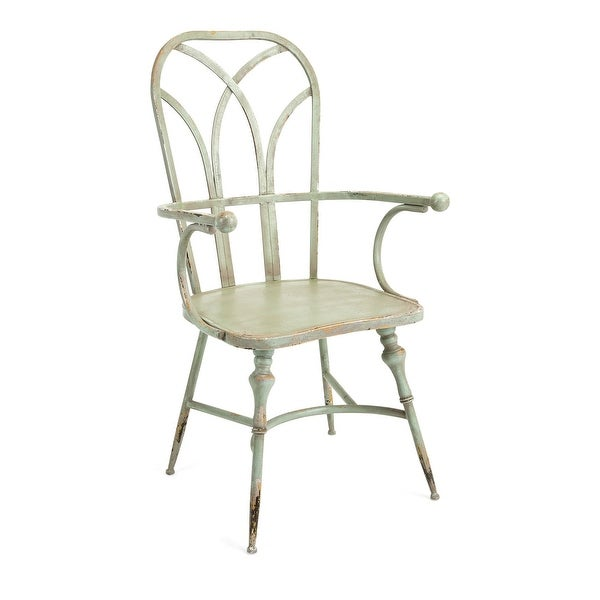 """IMAX Home 19232 Georgette 22-1/2"""" Wide Iron Occasional Chair - Green"""