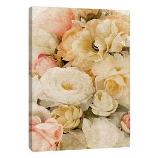 """PTM Images 9-109037  PTM Canvas Collection 10"""" x 8"""" - """"Vintage Bouquet A"""" Giclee Roses Art Print on Canvas"""