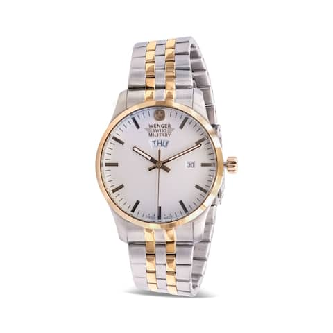 Wenger Swiss Military Terragraph Two-Tone Mens Watch 01.9041.214C - Two Tone