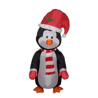 4' Airblown Inflatable Standing Penguin Lighted Christmas Yard Art Decoration