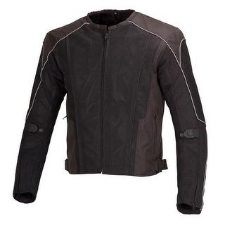 Men Motorcycle Textile Mesh Race Jacket CE Protection Black MBJ054